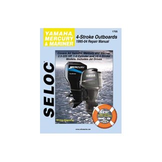 SELOC YAMAHA/MERC/MARINER OUTBOARD MOTOR ENGINE REPAIR MANUAL 1995-04 SEL 1705