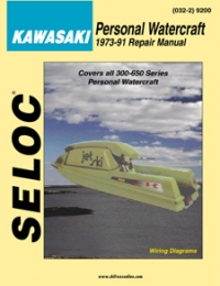 SELOC KAWASAKI JETSKI ENGINE REPAIR MANUAL PWC 1973-91 Sel 9200