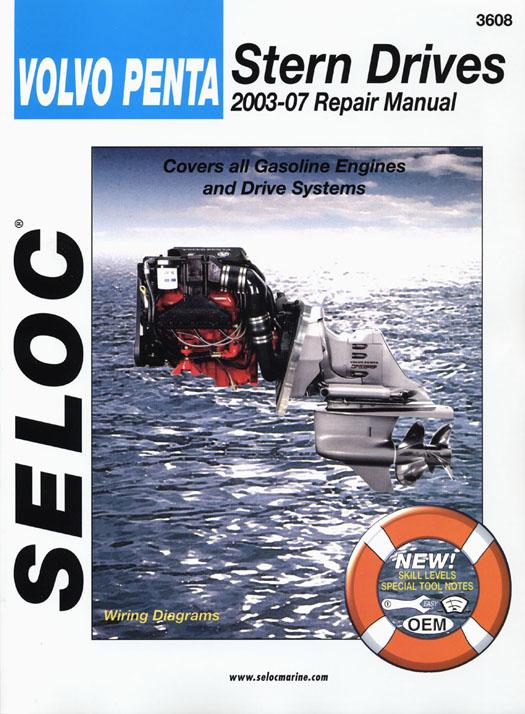 SELOC VOLVO PENTA STERN DRIVE MOTOR ENGINE REPAIR MANUAL 2003-12 SEL 3608