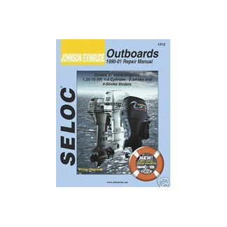 SELOC JOHNSON EVINRUDE OUTBOARD MOTOR ENGINE REPAIR MANUAL SEL 1312