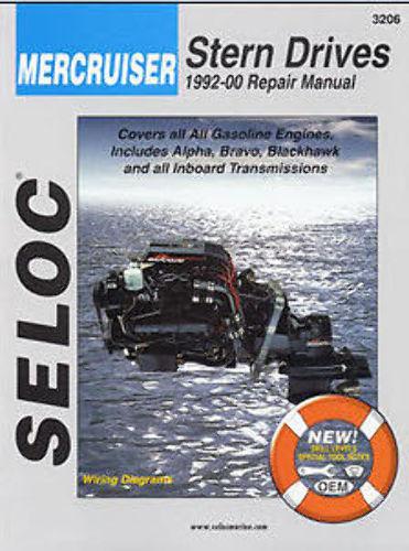 SELOC MERCRUISER STERN DRIVE MOTOR ENGINE REPAIR MANUAL 1992-00 SEL 3206