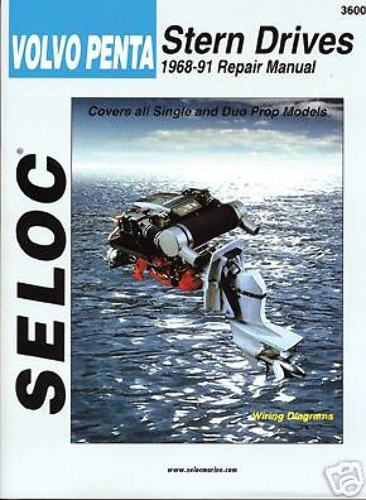 SELOC VOLVO PENTA STERN DRIVE MOTOR ENGINE REPAIR MANUAL 1968-91 SEL 3600