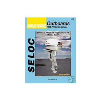 SELOC JOHNSON EVINRUDE OUTBOARD MOTOR ENGINE REPAIR MANUAL SEL 1306