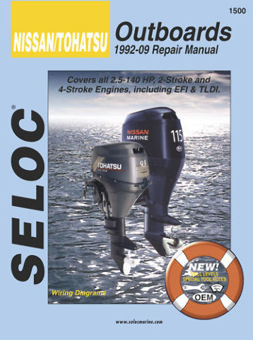 SELOC NISSAN / TOHATSU OB ENGINE REPAIR MANUAL  SEL 1500
