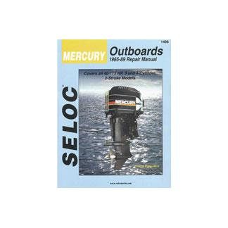 SELOC MERCURY OUTBOARD MOTOR ENGINE REPAIR MANUAL 1965-89 3 - 4 cyl SELOC 1406