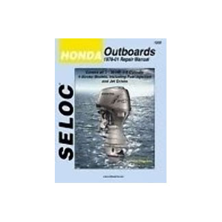 SELOC  HONDA OUTBOARD MOTOR ENGINE REPAIR MANUAL ALL MODELS 1978-01 SEL 1200