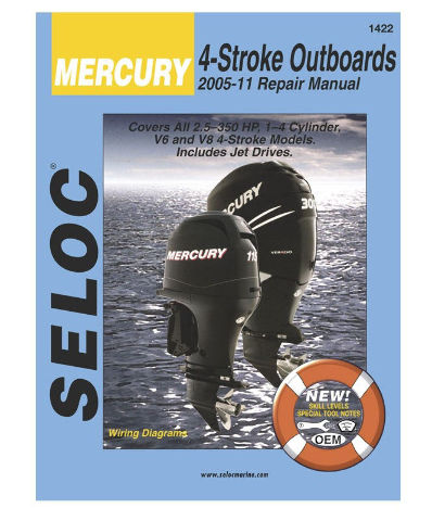 SELOC MERCURY OUTBOARD MOTOR ENGINE REPAIR MANUAL 2005-2011 4 STROKE SEL 1422