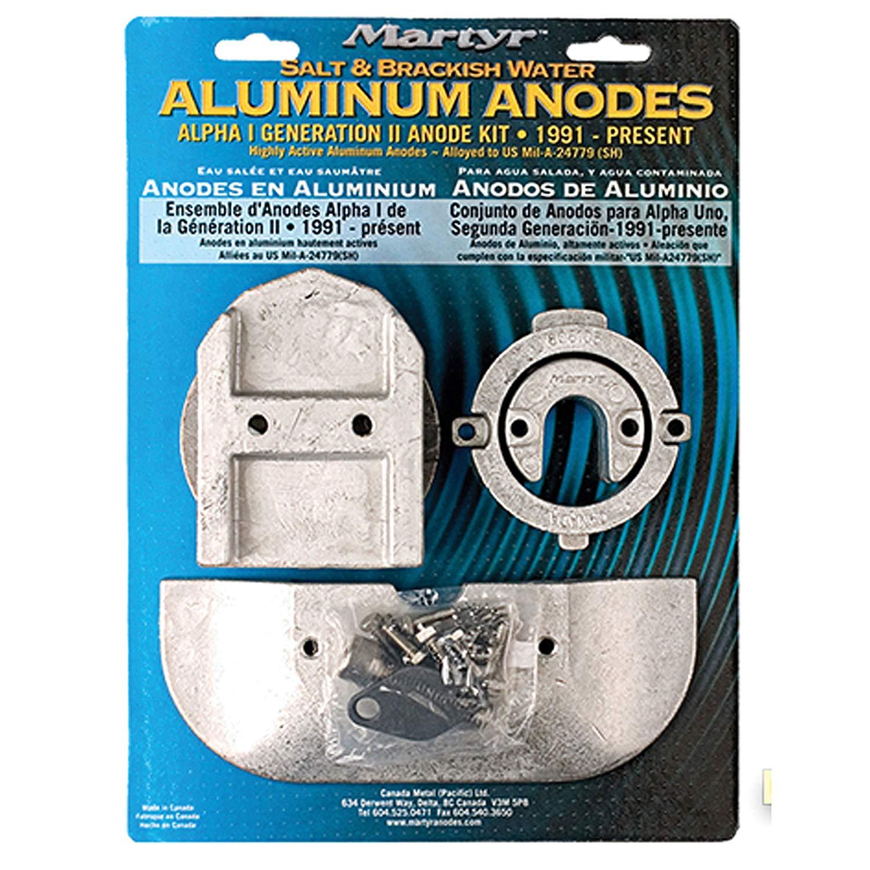 Martyr Mercruiser Aluminum Anode  Kit Alpha 1 Generation 2  CMALPHAKITA