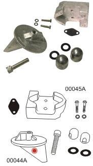 Performance Metals Mercruiser Alpha Gen 1 Aluminum Anode Kit No Power steering 10205A